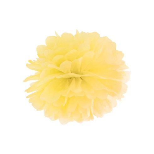 Pompom 35 cm sárga