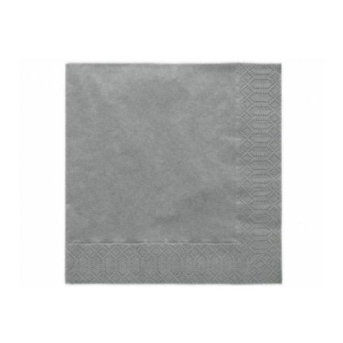 Szalvéta -  metál ezüst  (20 db-os csomag)