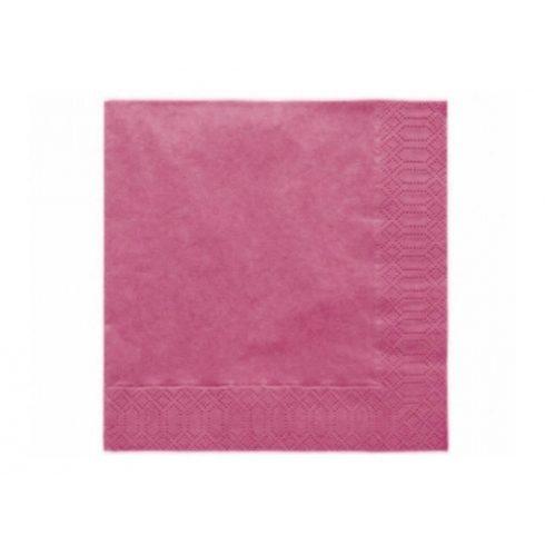 Szalvéta - pink  (20 db-os csomag)