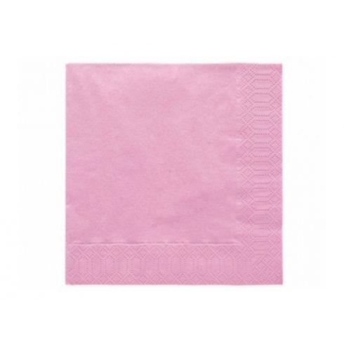 Szalvéta - világos rózsaszín  (20 db-os csomag)