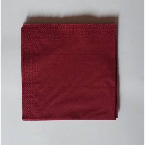 Szalvéta - bordó  (20 db-os csomag)