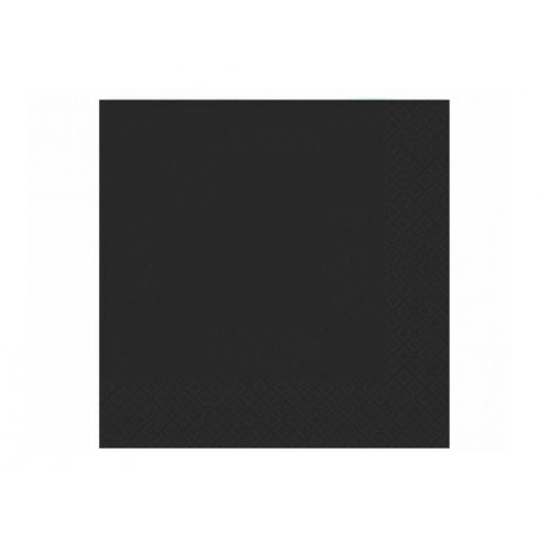 Szalvéta - fekete  (20 db-os csomag)