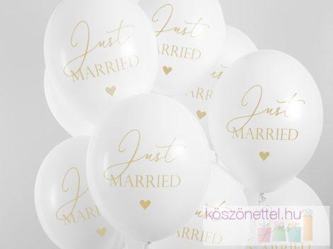 Just married lufi (fehér színű, arany felirattal)