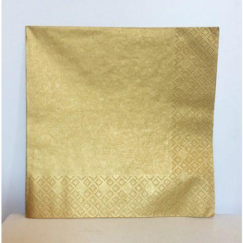 Szalvéta - metál arany (20 db-os csomag