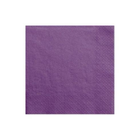 Szalvéta - lila  (20 db-os csomag)