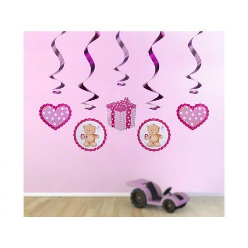 Macis spirál függő dekoráció - lányos