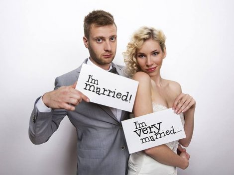 """I'm married!"" - ""I'm very married!"" - fotókellék"