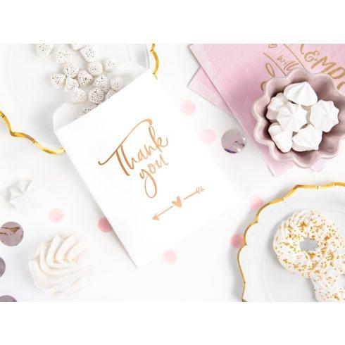 """""""Thank you"""" rose gold feliratos papírcsomagoló (6 db-os csomag)"""