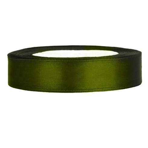 Szatén szalag 12 mm zöld