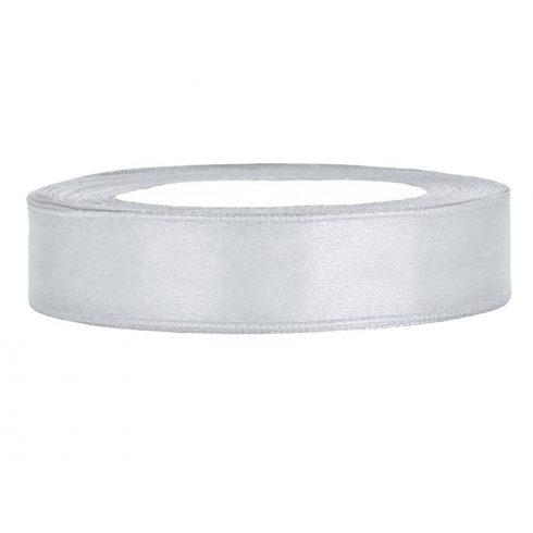 Szatén szalag 12 mm ezüst