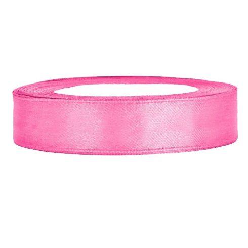 Szatén szalag 12 mm rózsaszín