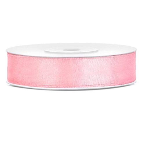 Szatén szalag 12 mm világos rózsaszín