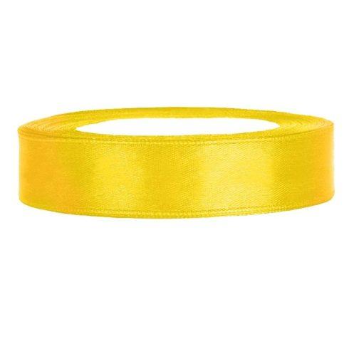 Szatén szalag 12 mm sárga