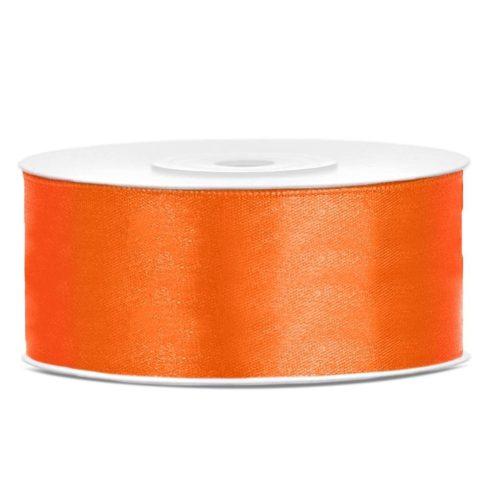 Szatén szalag 25 mm - narancs
