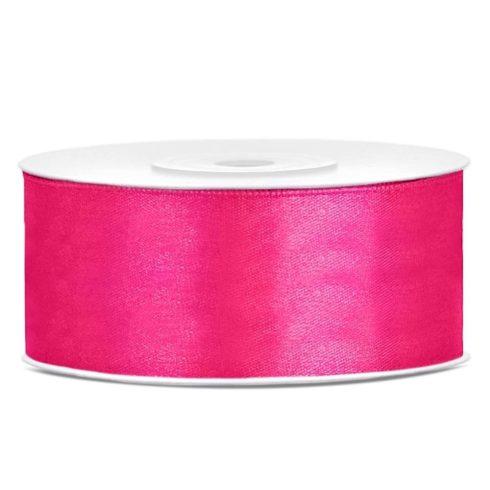 Szatén szalag 25 mm - pink