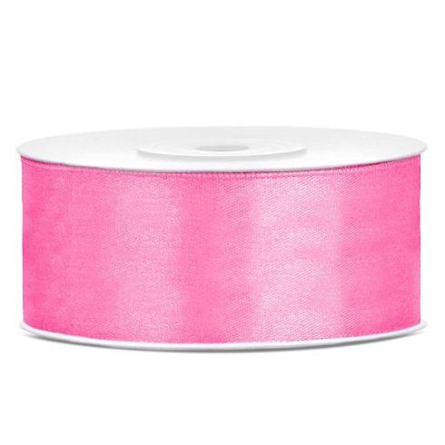 Szatén szalag 25 mm - rózsaszín