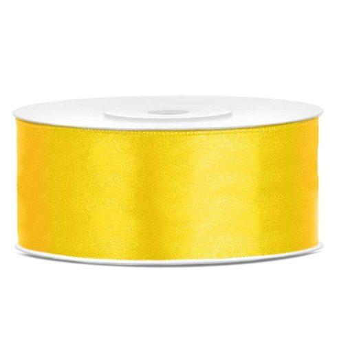 Szatén szalag 25 mm - sárga