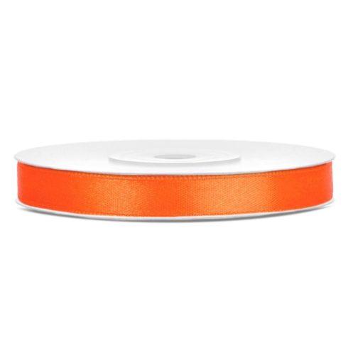 Szatén szalag 6 mm narancs