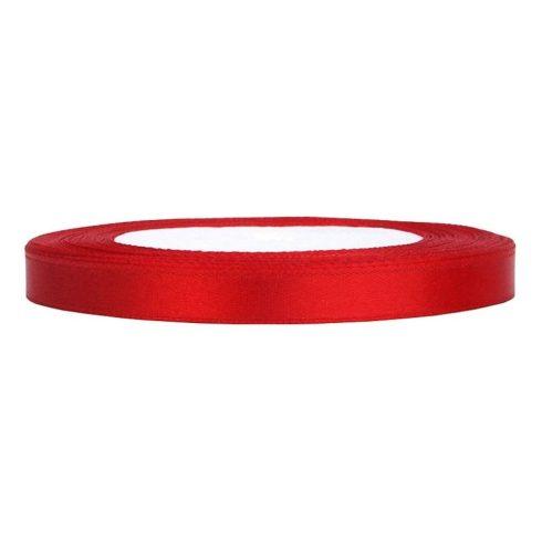 Szatén szalag 6 mm piros