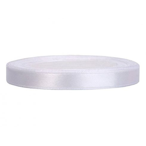 Szatén szalag 6 mm fehér