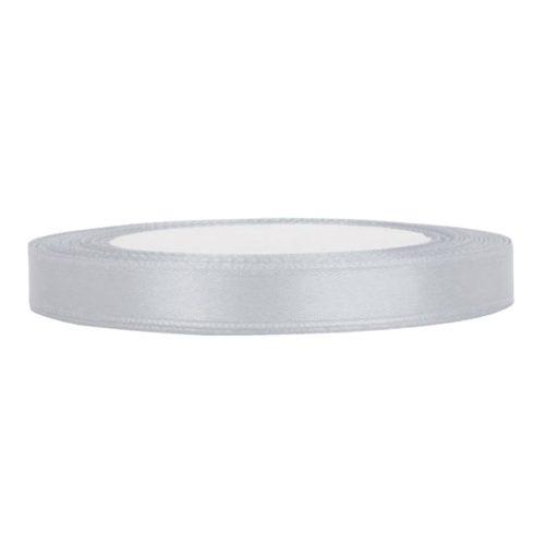 Szatén szalag 6 mm ezüst