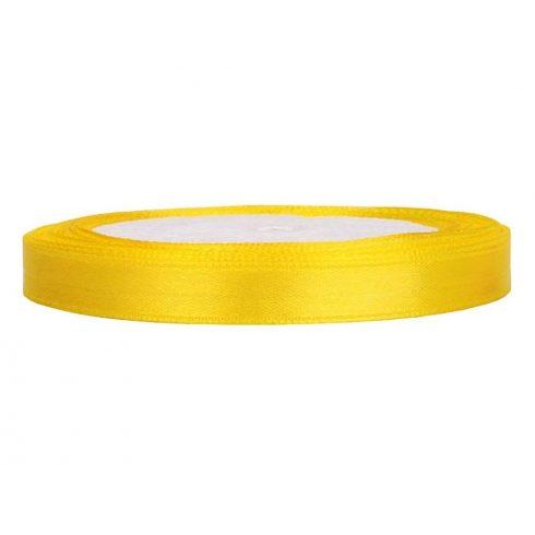 Szatén szalag 6 mm sárga