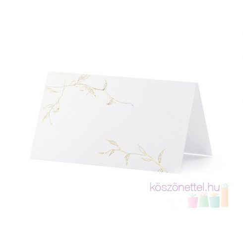 Arany levélmintás ültetőkártya