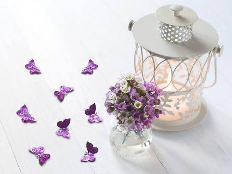 Pillangó konfetti - világos rózsaszín
