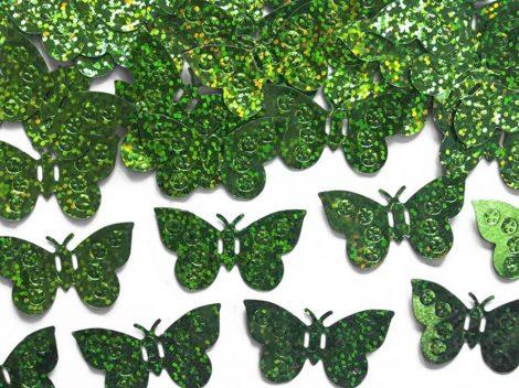 Pillangó konfetti zöld