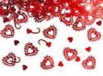 Díszes szív - konfetti
