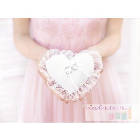 Szív alakú gyűrűpárna (13 cm)
