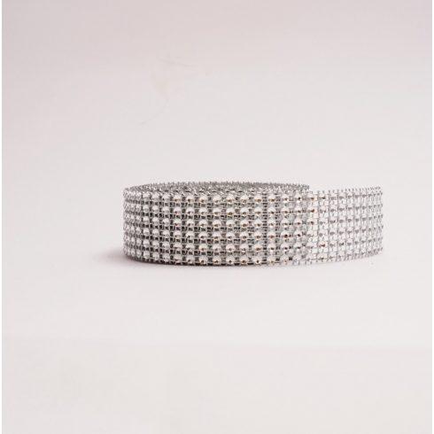 Strassztekercs - ezüst (3 cm *4,5 m)