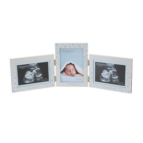 Ultrahang és újszülött baba képtartó keret - fiú
