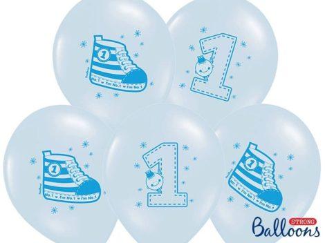 Nr.1 cipős lufi készlet első szülinapra -  kék