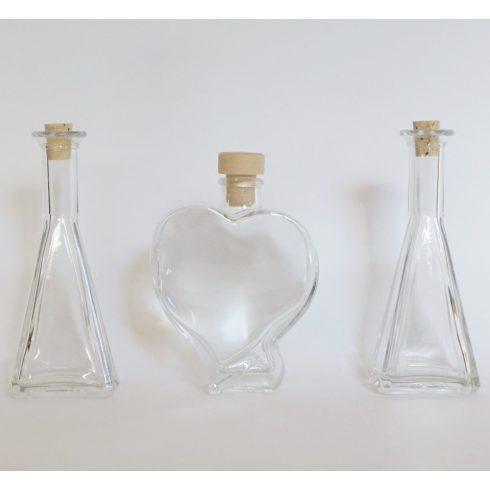 Lapos szív alakú üveg piramis öntőkkel