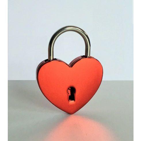 Szív alakú szerelemlakat - metálpiros