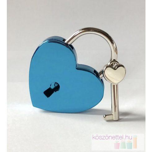 Szív alakú szerelemlakat - kék
