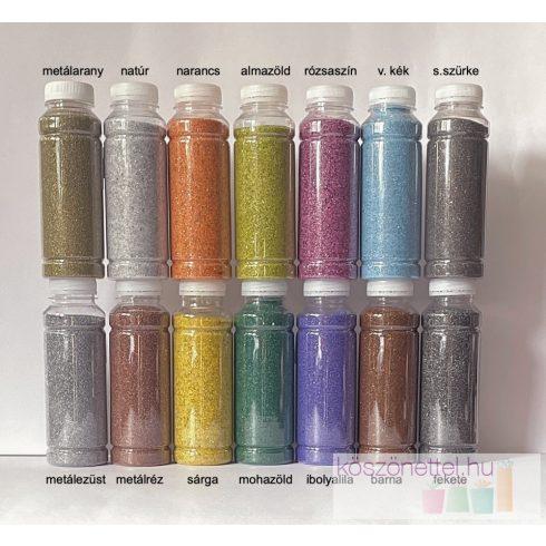 Prémium, csillámos tükörhomok és metálhomok 260 ml (kb. 430 g)