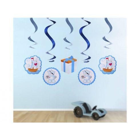 Macis spirál függő dekoráció - fiús