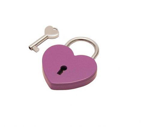 Szív alakú szerelemlakat - lila