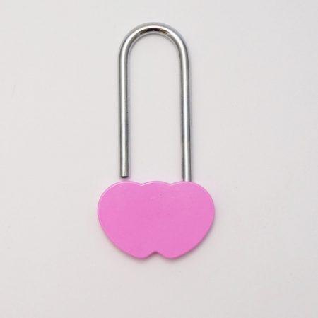 Dupla szív szerelemlakat - rózsaszín