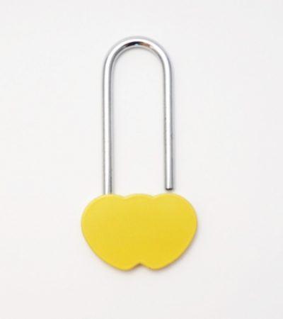 Dupla szív szerelemlakat - sárga