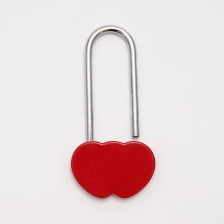 Dupla szív szerelemlakat - piros