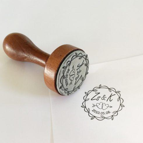 Monogramos esküvői pecsét (tinta nélkül)