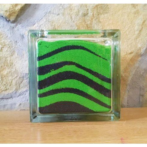 """""""Szerelem a négyzeten"""" homokszertartás üveg"""
