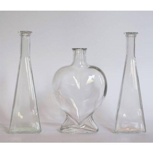 Szív üveg piramis öntőkkel