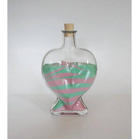 Szív üveg (500 ml)