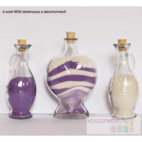 Szív üveg öntőkkel homokszertartásra