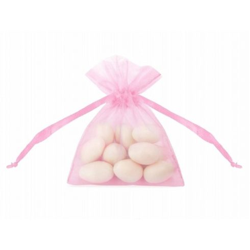 Organza zsák kicsi - rózsaszín