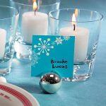 Fém gömb - ültetőkártya/asztalszám tartó